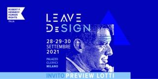 Design protagonista dell'asta benefica di RFK Human Rights Italia