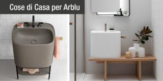 Bagno moderno e contemporaneo con i lavabi d'arredo Arblu, dallo spirito giovane e informale