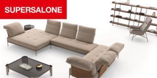 """Nuovi divani al """"supersalone"""": sviluppo orizzontale, ispirazioni vintage, libertà di utilizzo"""